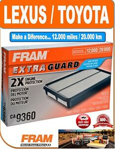 Fram Ca9360 Air Filter Extra Guard 2x Engine Protection For Toyota Lexus Vehicle