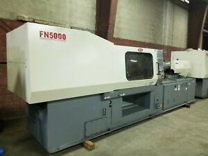 Nissei Fn5000 50a Injection Molding Machine 242 Us Ton Year 2002
