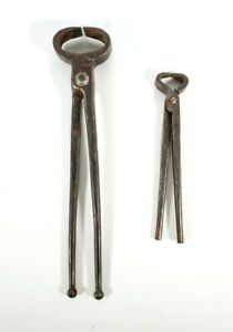 Hand Forged Blacksmith Tongs 2 Pack Vintage Metalworking Tools Hand Forged