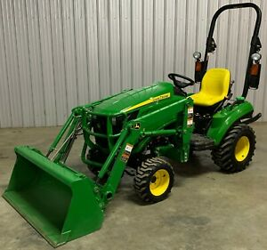 24 Hp John Deere 1023e Compact 4wd Loader Tractor 4x4 Hst Ie 1026r