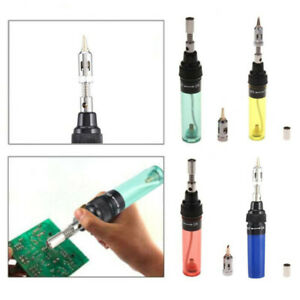 Gas Blow Torch Soldering Solder Iron Butane Cordless Welding Pen Burner Va 100