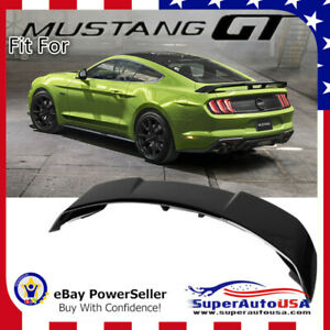 Fits 2015 2020 Ford Mustang Gt500 Style Gloss Black Rear Trunk Spoiler Wing Lid