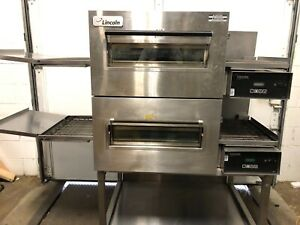 Lincoln Impinger Double Stack 1162 Electric Conveyor Pizza Oven 18 Belt Nice