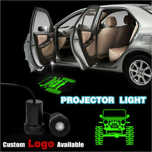 Car Door Green Jeep Logo Projector Laser Welcome Led Ghost Shadow Light For Jeep