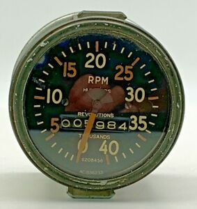 Ac 6208456 Tachometer 1536233 Tach Military Truck Willys Jeep Vintage 20 2220