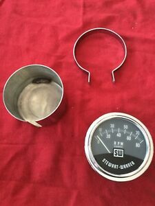 Vintage 1960 s Stewart Warner Electric Tachometer 8000 Rpm Hot Rod Gasser 429370