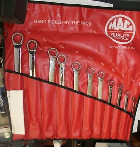 Mac Tools 11pc Sae Micro Turn Double Box Wrench Set Kit Bag 3 8 1 Unused New