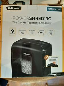 Fellowes 4775801 Powershred 9c Cross cut Paper Shredder Excellent Condition