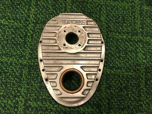 Vintage Glenwood Small Block Chevy Motor Aluminum Finned Timing Chain Cover
