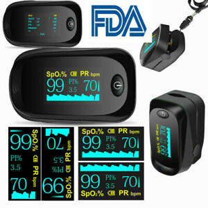 Fda Finger Pulse Oximeter Blood Oxygen Meter Spo2 Heart Rate Monitor Saturation