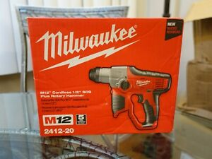 Milwaukee M12 12 volt Lithium ion Cordless 1 2 Sds plus Rotary Hammer 2412 20