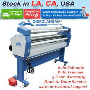63 Full auto Wide Format Cold Laminator Machine Laminating With Heat Assisted