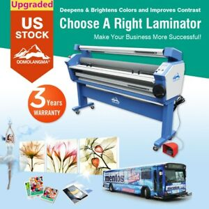 63 Full auto Large Format Cold Laminator Machine Laminating With Heat Assisted