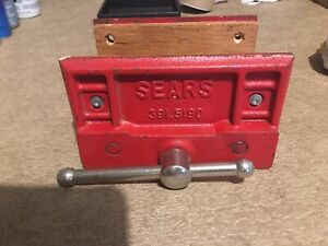 Sears Craftsman Cast Iron 6 5 Woodworker s Bench Vise 391 5190 Ships Free