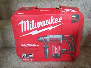 New Milwaukee Rotary Hammer Kit 1 1 8in 3 6 Ft lbs 8 0a 120v 5268 21