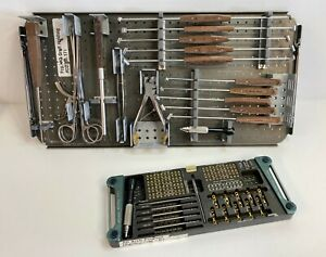 Synthes Arch Fixation System Set Instruments And Ti Titanium Implants Plates