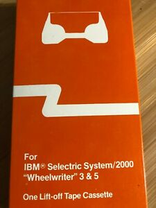 New Ibm Selectric System 2000 Wheelwriter 3 5 Lift Off Tape Cassette
