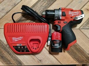 Milwaukee 2504 20 M12 Fuel 1 2 Hammer Drill driver Battery Charger Warranty