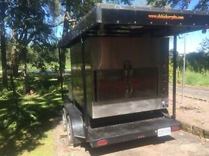 2014 Ole Hickory Pits Wood Burning Barbecue Smoker And Trailer