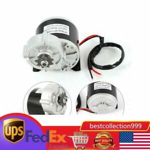 350w 24 V Dc Electric Motor Bicycle Bike Scooter 300 Rpm Gear Reduction