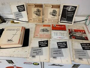 30 S 40 S 1950 S 1960 S Ford Lincoln Mercury Holley Carburetor Manuals Catalogs