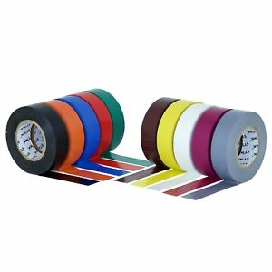 Stikk Multi Colored Electrical Tape 10 Pack 3 4 Wide 66 Feet 20 Meters Long