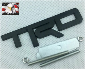 1 Pc Tundra Tacoma 4runner Black 3 D Trd Metal Front Grille Badge Emblem T R D