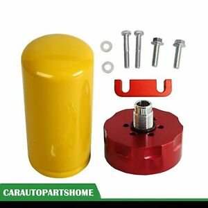 Red Cat Fuel Filter Kit Adapter For 2001 2016 Gm Duramax 6 6l Red New