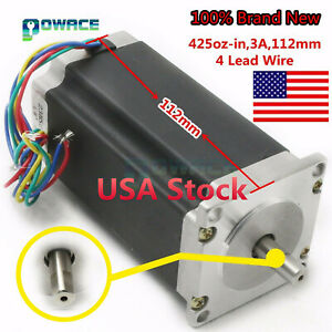 us 1pcs Nema23 Stepper Motor 425oz in 112mm 3a High Torque For Cnc Engraver Kit