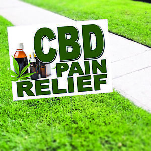 Cbd Pain Relief Included Lawn H stake For Rent Open House Estate Sale Yard Sign