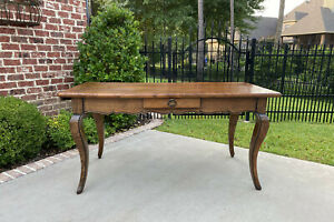 Antique French Baker S Table Sofa Table Console With Drawer Oak Louis Xv Island