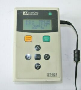 Met One Gt 521 Handheld Particle Counter W Power Supply Tested