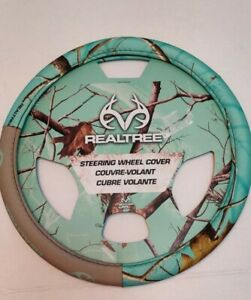 Realtree Steering Wheel Cover Mint Green Camouflage Camo Car Truck Suv Nwot