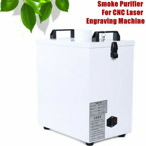 Air Fume Extractor 180m h Double Hole Smoke Purifier For Cnc Laser Engraver