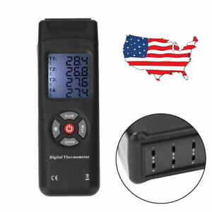 4 channel K type Thermocouple Lcd Thermometer Temperature Meter 50 1350 c Usa