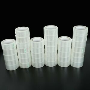 36 Rolls Carton Sealing Clear Packing Tape Box Shipping 1 7 Mil 1 9 X 110 Yards