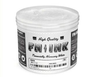 Fn ink White High Quality Plastisol Ink For Screen Printing 1gal 128oz