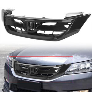 For 2013 2015 9th Gen Honda Accord 4 Door Black Jdm Front Bumper Grille Grill