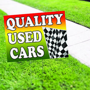 Quality Used Cars Plastic Novelty Indoor Outdoor Coroplast Yard Sign