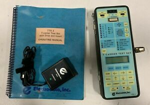 Electrodata Inc Tts 3 T carrier Test Set With Charger And Manual