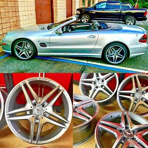 18 8 5 18 9 5 Mercedes 18 Sl63 Rims Wheels Set4 New Sl500 Sl550 Sl400 Sl Amg