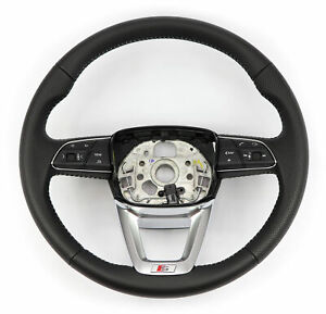 Audi S line Round Steering Wheel Multifunction Leather Black Audi Q5 Sq5 Fy