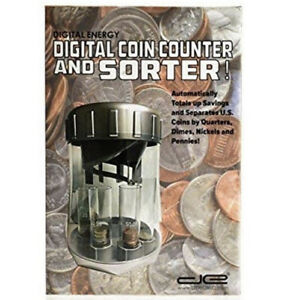 Automatic Coin Sorter Electronic Coin Counter With 20 Starter Coin Wrappers