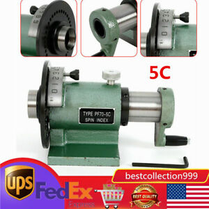 5c Precision Spin Index Fixture Collet 0 0008 For Milling Grinding New