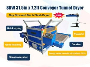 8000w 220v Conveyor Tunnel Dryer Machine 7 2ft X 31 5 Wide Belt Free Dryer