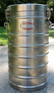 Vintage Insulated Food Beverage Container 10 Gallon Aer Void Thermal Container