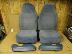 92 96 97 Ford Obs Pickup Truck Front Bucket Jump Seats 40 20 40 Blue