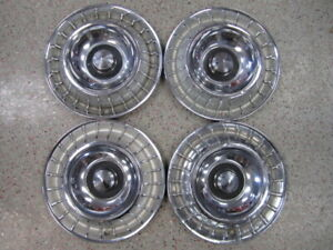 Set Of 4 Oem 14 1963 Ford Thunderbird T Bird Wheel Covers Hubcaps