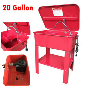 20 Gallon Automotive Parts Washer Cabinet 120v With Electric Pump Tool Bs
