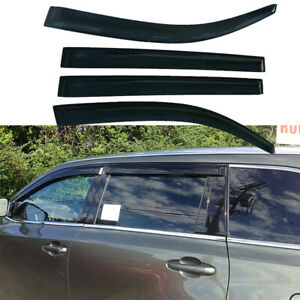 Window Vent Visors Sun Guards Rain Deflectors For Toyota Highlander 2008 2013